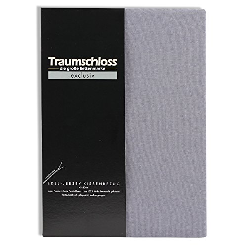 Traumschloss Edel-Jersey Kissenbezug Exclusiv 40 x 60 cm Grau