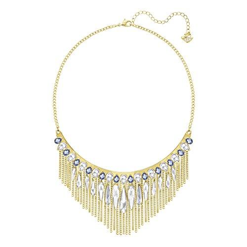 Swarovski Damen-Collier teilvergoldet Kristall weiß 38 cm - 5260592