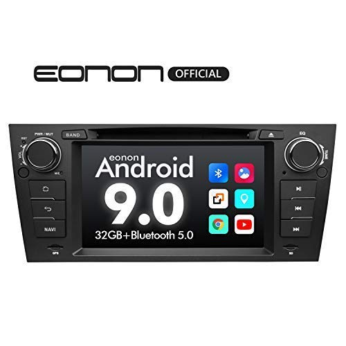 eonon GA9365 Android 9 fit E90 E91 E92 E93 2GB RAM Quad-Core & 32GB ROM 7' HD Pantalla táctil DVD GPS Navigation Support Built-in Bluetooth 5 Receiver 4G WiFi DAB+ OBDII Unidad de Control de Volante