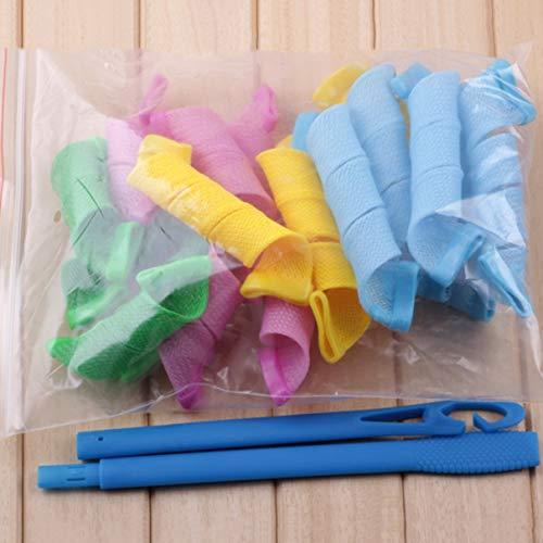 18 Stück/Set Magic Leverage DIY Lockenwickler Lockenwickler Spiralkreis Lockenstab Sicherheit Haarstyling-Tool für Frauen - Mehrfarbig