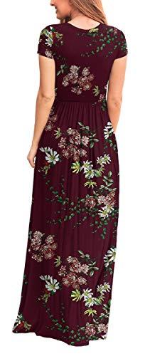 Fashion Shopping VIISHOW Women's Short Sleeve Loose Plain Maxi Dresses Casual Long Dresses with