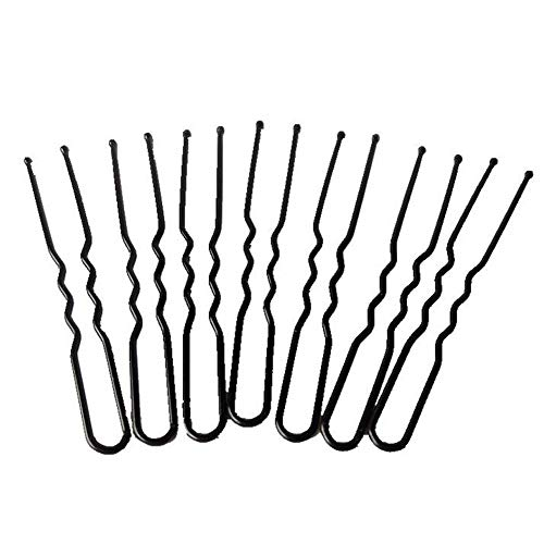 Haobase Boîte De 40 Longues épingles à Cheveux épingles Bun Cheveux Glisse Poignées (Noir)