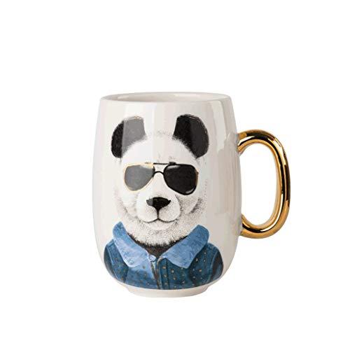 ZANZAN Taza de Cabeza de Animal Creativo, Taza de café de cerámica súper Grande 650 ml, Taza de café de la Vendimia/Bebida para la Leche para el Jugo de Mocha de Leche de café, etc.-6colors