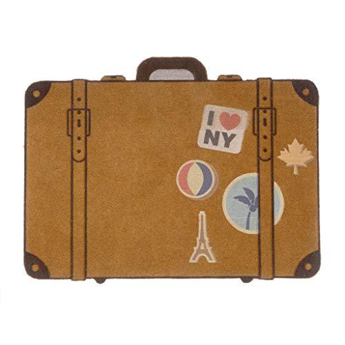 Balvi Felpudo Luggage Color marrón Alfombra para Interior y para Exterior. Poliéster/plástico PVC