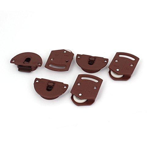 Armario correderas de rodillos para puerta Kit del engranaje de la pista interna del panel 3 pares