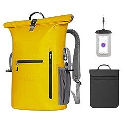 Unigear Waterproof Backpack 35L, with laptop sleeve + cell phone pocket, Dry Bag Waterproof Packsack, 58x34x19cm, for everyday boat kayak fishing and rafting, MULTIPLE WAY