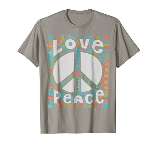 PEACE SIGN LOVE T Shirt 60s 70s Tie Dye Hippie Groovy Vibes