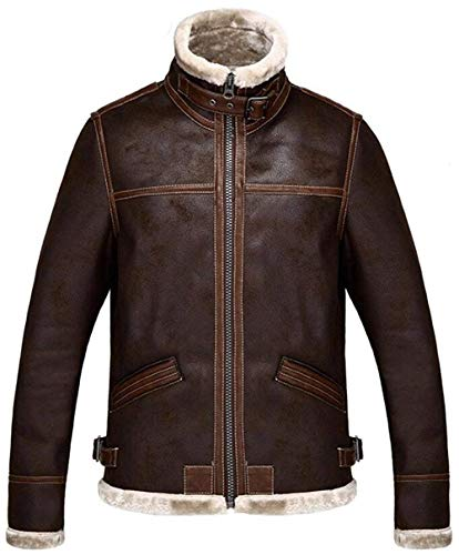 Saoye Fashion Cappotto Resident Evil 4 Uomo Giacca in Pelliccia Sintetica di Giovane Abiti da Festa Alta qualità Aviator Cappotto Foderato Sherpa Cappotto di Transizione 2019 Abbigliamento Uomo