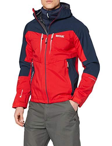 Regatta Herren Sacramento Vi Waterproof Breathable Taped Seams Multiple Pockets Reflective Hooded 3-in-1 Jacket Jacke, blau, XL