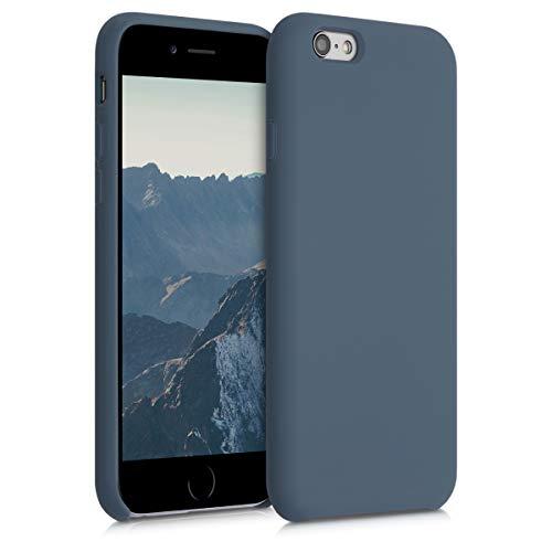 kwmobile Hülle kompatibel mit Apple iPhone 6 / 6S - Handyhülle gummiert - Handy Hülle in Slate Gray
