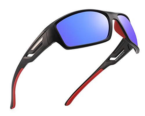 PUKCLAR Gafas de sol deportivas polarizadas para hombres y mujeres, correr, andar en bicicleta,protección UV400, categoría 3 CE