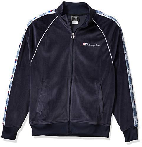 Champion Life Herren Velour Track Jacket Jacke, Navy, XX-Large