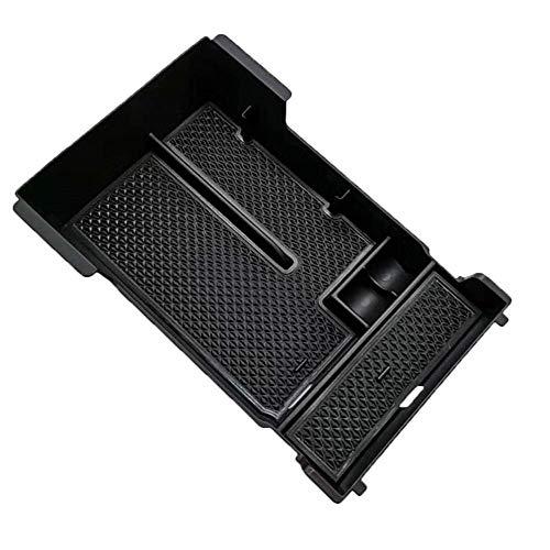 LCRAKON Caja Organizadora De Almacenamiento De Caja De Reposabrazos para Mazda 3 Axel 2019 2020, Bandeja De Reposabrazos De Almacenamiento Central para AutomóVil Abs, Negro