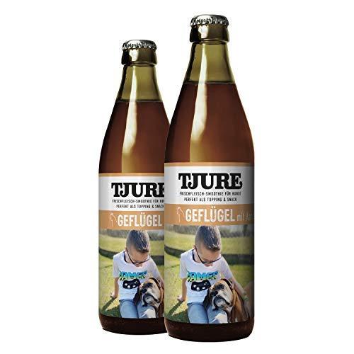 Tjure Hund - Geflügel - Doppelpack Hundesmoothie 2 x 320 ml - Die flüssige Fleischnahrung für Hunde