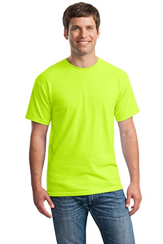 Heavy Cotton 100% Cotton Tshirt (G500) Safety Green, L (Pack of 12)