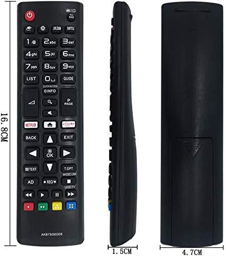 Reemplazo LG AKB75095308 Mando a Distancia para LG Smart TV -No Se Requiere Configuración Pare LG TV Control Remoto: Amazon.es: Electrónica