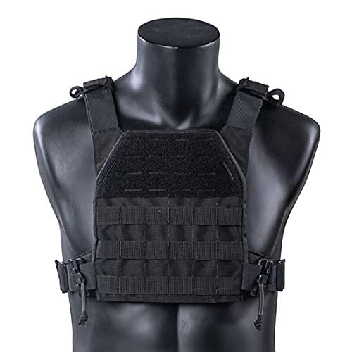 Tewerfitisme Chaleco táctico militar Molle negro ultraligero para deportes al aire libre