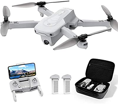 Holy Stone HS175 Drone with Camera for Adults 2K UHD, GPS Auto Return, 5GHz FPV RC Quadcopter Follow Me, Waypoint-Fly, Circle Fly, Optical Flow, Headless Mode, 2 Batteries for 40 Min and Carrying Case