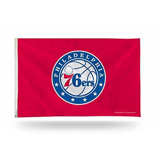 Bandera de la NBA con 3 pies por 5 pies, Unisex Adulto, FGB90004, Philadelphia 76ers, tamaño único