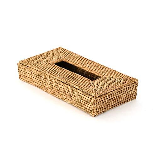 【アジア工房】ラタンで出来た薄型ティッシュケースボックス[10685] Aタイプ ティッシュケースボックス ラタン 籐 薄型 スリム ペーパータオル ホルダー ボックス ケース キッチンペーパー 紙 ペーパー タオル 収納 おしゃれ リゾート エスニック
