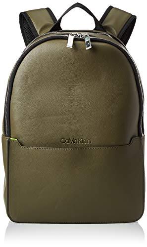 Calvin Klein Herren Sliver 2g Round Backpack Rucksack Grün (Camouflagefluoyellow)