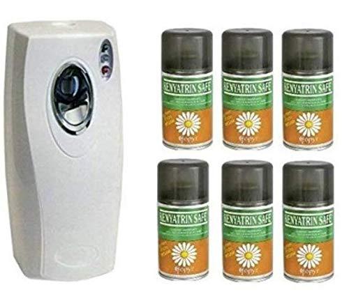 Coprimatic Evolution - Insecticida en espray Kenyatrin Safe, de piretro, de 250ml, con dispensador automático, para moscas y mosquitos - 6 unidades