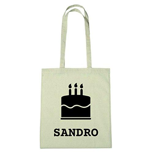 JOllify katoenen tas - Happy Birthday voor SANDRO - BHB5901 Kuchen