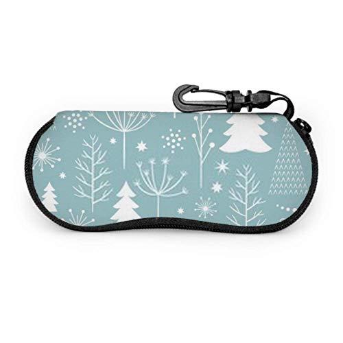 Arvolas Flying Christmas Snowflakes Estuches para gafas de sol Lithesome Estuche para gafas para niños Estuche para gafas de colores con cremallera de neopreno