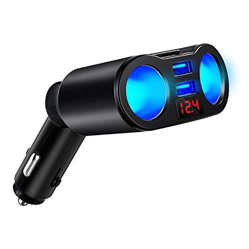 LIULIANG MeiKeL Encendedor de Cigarrillos Cargador DE Coche CARGER 3.1A Pantalla de Voltaje 12-24V LED Indique Ligero Dual USB Cargador Adaptador Ajuste para teléfono DVR MP3