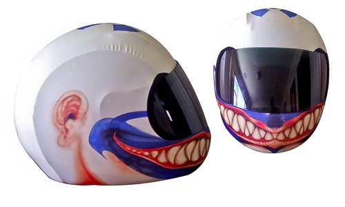 Skullskins Elastischer Motorrad Roller Quad Motorradhelm Helm Überzug/Bezug - Clown