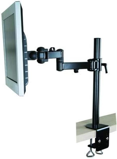 MonMount Adjustable Single Arm Monitor Mount with 3 Points of Articulation