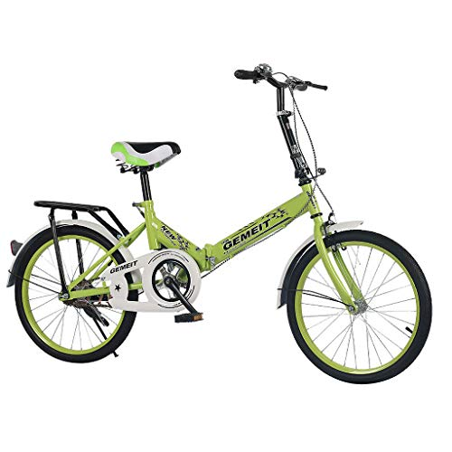 ODJOY-FAN Damenfahrrad, 20 Zoll, Mädchen Damen Citybike Fahrrad Falten Fahrrad Studentenfahrrad Mini (Grün, 20 Zoll)