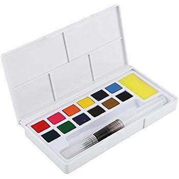 Fdit Set de Pintura de Acuarela Set de Pigmentos de Acuarela Set de Pintura de Dibujo para Adultos Principiantes Estudiantes Artistas Profesionales o Niños(#1)