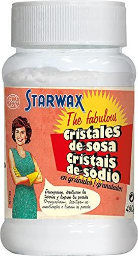 Starwax The Fabulous Cristales De Sosa 480 Gramos - Desengrasante, Desatascador, Elimina Las Manchas Más Difíciles, Standard