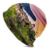 Gorros Beanie para Hombres y Mujeres Beautiful Sunset Coast Mallorca España Island Beanie Cap elástico Suave Beanie Cap