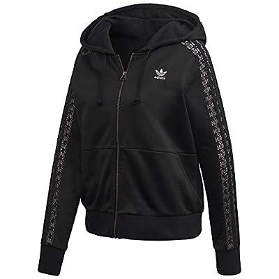 adidas Originals Women's Lace Zip Hoodie Black X-Large