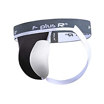 F plus R Men s Athletic Supporter Jockstrap with Cup Pocket 2 Inch Waistband Black M