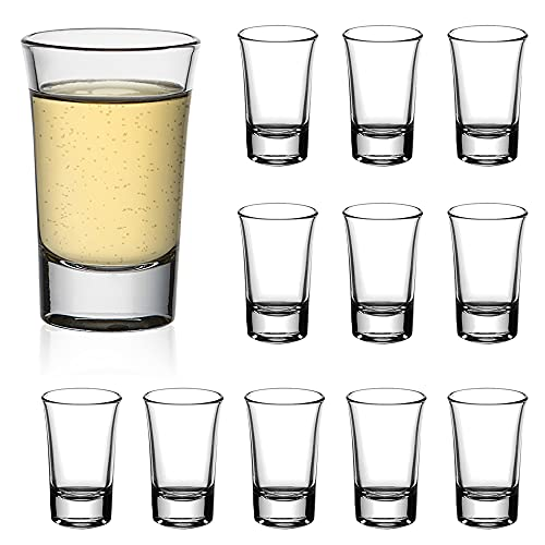 Amisglass Set 12 Vaso de Chupito, Vasos de Licor de Cristal sin...