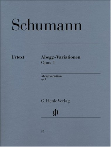 Abegg-Variationen op. 1, Klavier