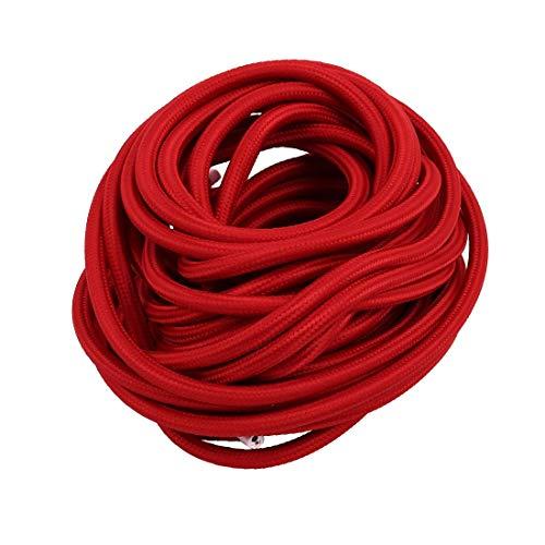 New Lon0167 10Meters VDE Destacados Cable de conexión eficacia confiable a tierra con conexión a tierra para la línea de cable trenzado de la lámpara de mesa Rojo(id:ef7 ba eb 6de)