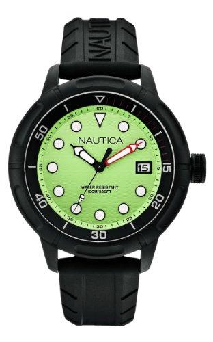 Nautica A17618G - Reloj analógico de Cuarzo para Hombre, Correa de Silicona Color Negro