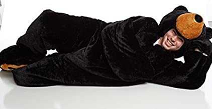 Snoozzoo Adult Black Bear Sleeping Bag for Adults up to 75 inches Tall.