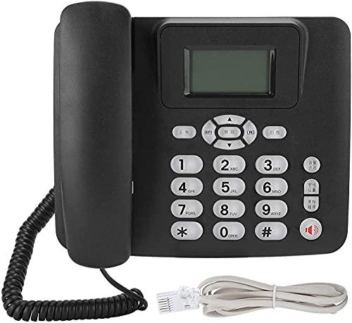 Teléfono con Cable con ID de Llamadas Pantalla de identificación de Llamadas/Teléfono Fijo de Escritorio con Cable, Almacenamiento de identificación, 16 Tipos de Tono de Llamada, Soporte,Negro