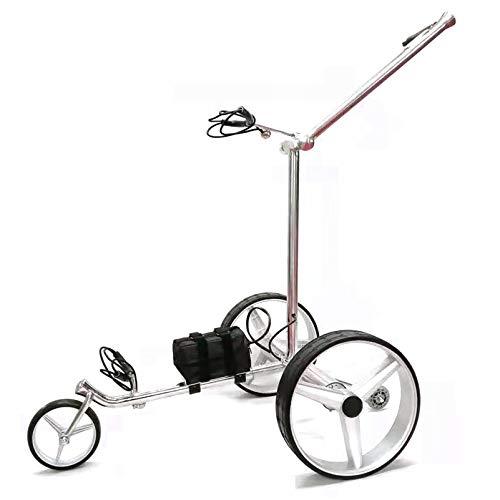 LY Elektro-Golfcarts Golfwagen Zusammenklappbar Elektrischer Golftrolley Rostfreier Stahl Elektrocarts Silver Golfcaddy 37805