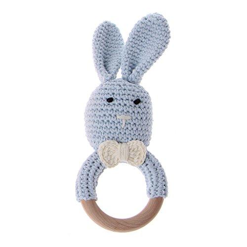 A0127 Baby Bunny Ear Beißring aus Holz Kinderkrankheiten Ring Neugeborenen sensorische Spielzeug Dusche Geschenk