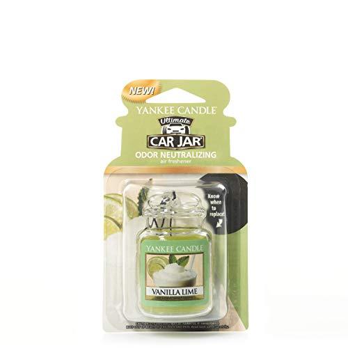 Yankee Candle 1220892E Car Freshener, Car Jar Ultimate, Vanilla Lime