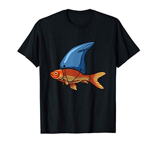 Pesce rosso con pinna di squalo - Pesca Pesce acquario Maglietta