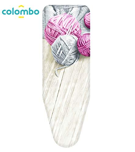 Colombo Foderina da Stiro 140x55 cm GOMITOLI Rosa Taglia XL, Blu