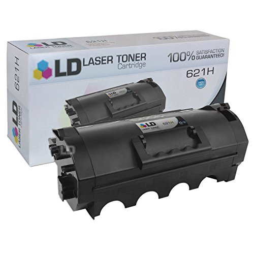 LD Compatible Toner Cartridge Replacement for Lexmark 621H 62D1H00 High Yield (Black)