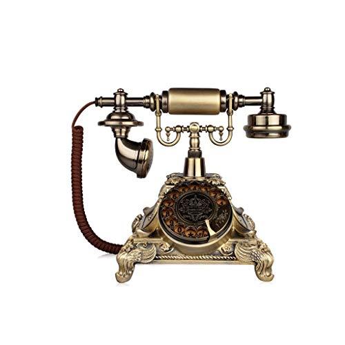 ZR Téléphone rétro rétro européen Classique nostalgique à la Maison Salon décoration écran Bleu rétroéclairé téléphone (Couleur : F)